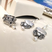 барочный жемчуг серьги серебро купить