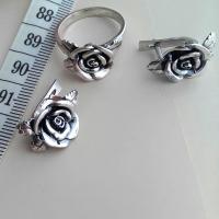 Серьги+ кольцо Розы