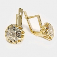 """Серьги с бриллиантами  750 """"Бахча"""""""