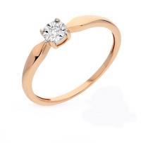 Кольцо с бриллиантом дешево