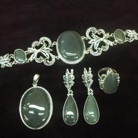 Комплект из серебра с агатом