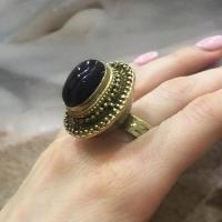 Кольцо серебро и  позолота