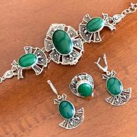 купить серебряный комплект украшений