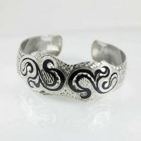 Женский кубачинский браслет из серебра 875