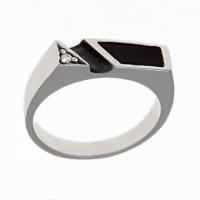 Кольцо с ониксом мужское