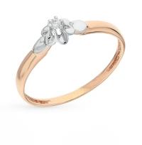 Недорогое кольцо с бриллиантом