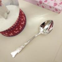 Кофейная ложка из серебра   с розой