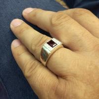 кольца +с камнем граната