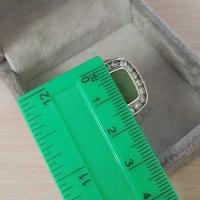серебряное кольцо +с нефритом