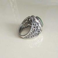 Серебряное кольцо с нефритом