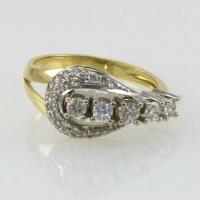 Кольцо- дорожка с бриллиантами