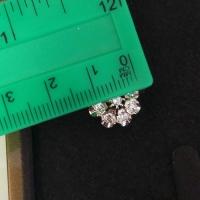 малина серьги с бриллиантами