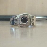 Мужское кольцо с черным камнем