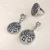 Комплект украшений из серебра